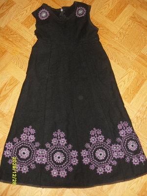 Продано: сарафан шерстяной вышиванка на рост 120-125 см