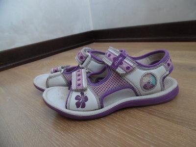 босоноги белые фиолетовые 21,5 см Clarks Кларкс фирменные