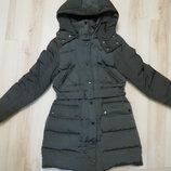 Стильный тёплый зимний пуховик с капюшоном zara , куртка , пуховое пальто ,