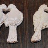 Гипсовые фигурки белые голуби, 3D разукрашка