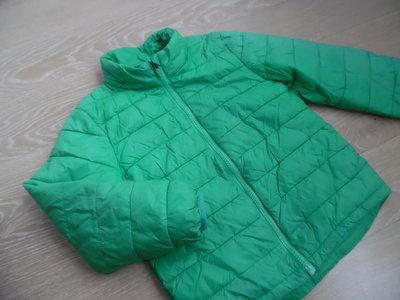 куртка 5-6 л детская девочке зеленая весна осень H&M НМ балон
