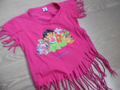 футболка 5-10 л розовая девочке детская дора даша