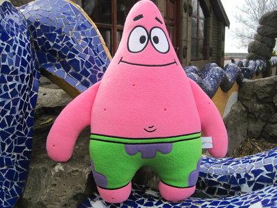 Мягкая игрушка - подушка Патрик Стар Губка Боб ручная работа