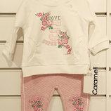 весенний хлопковый костюм на девочку3-12 месяцев Caramell -еще 10%до июня