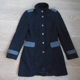 пальто женское 8 рр темно серое черное новое деми осень весна 50 % шерсть плащ