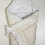 Конверт на выписку, одеяло детское, трансформер Зимний-Бязь хлопок 90х90