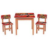 Деревянный столик с двумя стульчиками Тачки F193