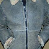 Стильная фирменная курточка зимняя дубленка Vero Cuoio Italy.хл