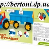 Wader Gigant Truck Трактор с прицепом и ковшом Арт 66300
