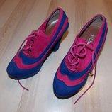 Туфли сине - розовые