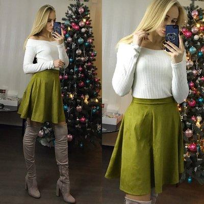 Салатовая юбка фото
