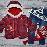 Фирменная теплая курточка девочке с Минни 6 - 12 месяцев Дисней Disney с Минни Маус