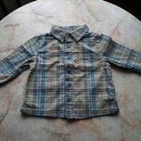 Рубашка на мальчика фирмы John Lewis на возраст 6-9 мес