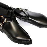 CУПЕР Женские современные ботильоны сапожки ботиночки внутри с утеплителем