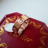 Кольцо Cartier Lоve картье 17р. роз.золото без камней