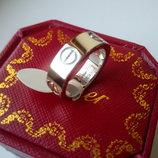 Кольцо Cartier Lоve картье 17р. серебро без камней