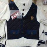 нарядный детский свитер -жилетка 3- 8 лет