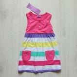Новое яркое летнее платьице для девочки. F&F. Размер 2-3 года