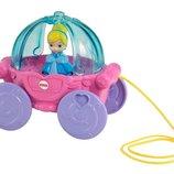 Fisher Price принцессы диснея музыкальная каталка карета золушки Disney Princess Carriage Pull Toy
