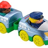 Fisher-Price паровозик с прицепом Little People Wheelies Train Toy