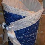 Конверт на выписку, одеяло детское, трансформер -весна, осень, зима бязь хлопок 90х90