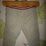 Бежевые вельветовые штаны Tu с хлопковой подкладкой 3-6 мес, 62-68 см