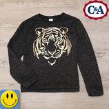 Свитшот с начесом C&A 9-10 лет, 134-140 см. Идеальное состояние. толстовка, свитер, кофта, для девоч