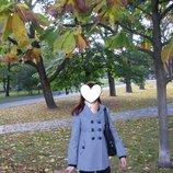 черно-белое пальто размер S-M, пальто демисезонное 44 р., пальто для беременной