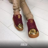Женские кеды кроссовки носочек на шнурках
