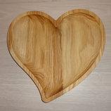 Деревянная посуда из дерева премиум класса. Сердце