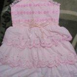 красивое нарядное платье девочке на 4-6лет новое Yixueer