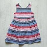 Яркое стильное платье для девочки. Внутри на подкладке. TU. Размер 12-18 месяцев. Состояние идеал