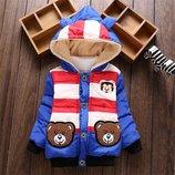 стильная детская куртка мишка