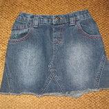 Крутая джинсовая юбка Debenhams, 3-4года по бирке