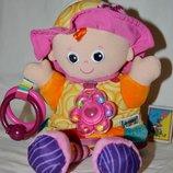 Подвесная развивающая игрушка погремушка кукла пищалка Lamaze Ламазе моя подружка Эмили