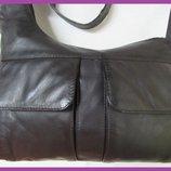 Стильная удобная сумка планшет натуральная кожа