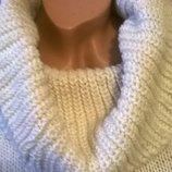 Теплый свитер с горловиной. Шерсть. Размер 42-44