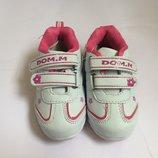 Кроссовки белые в розовые цветочки