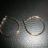 серьги кольца под золото