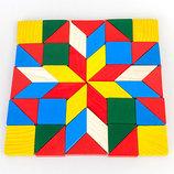 Деревянная Мозаика геометрия Тато. В наличии.
