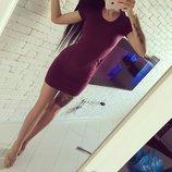 Повседневное спортивное мини-платье Сандра 2 типа ткани 12 цветов