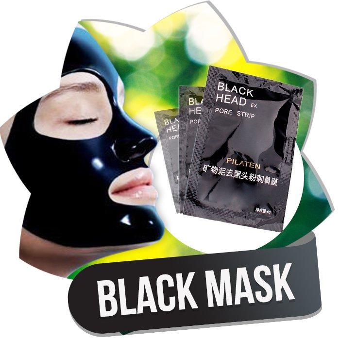 черная маска против черных точек с желатином