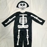 Карнавальный костюм скелет скелетик 1-3 года 2 года 80-98 см