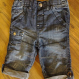Бриджики джинсовые F&F 9-12 мес