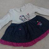 Платье-Туничка Matalan на девочку 9-12 месяцев