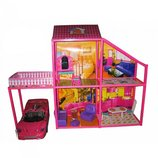 Домик 6981 My Lovely Villa для кукол Барби, 4 комнаты и машинка