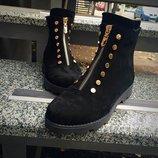Женские стильные замшевые ботинки Lezzo