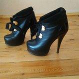 Ботильоны зимние сапожки ботинки ботиночки