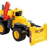 Matchbox Большой бульдозер со световыми и звуковыми эффектами Power Shift Construction Truck