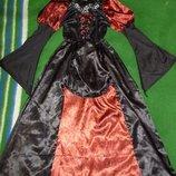 платье колдуньи,ведьмочки,королевы на 9-10 лет